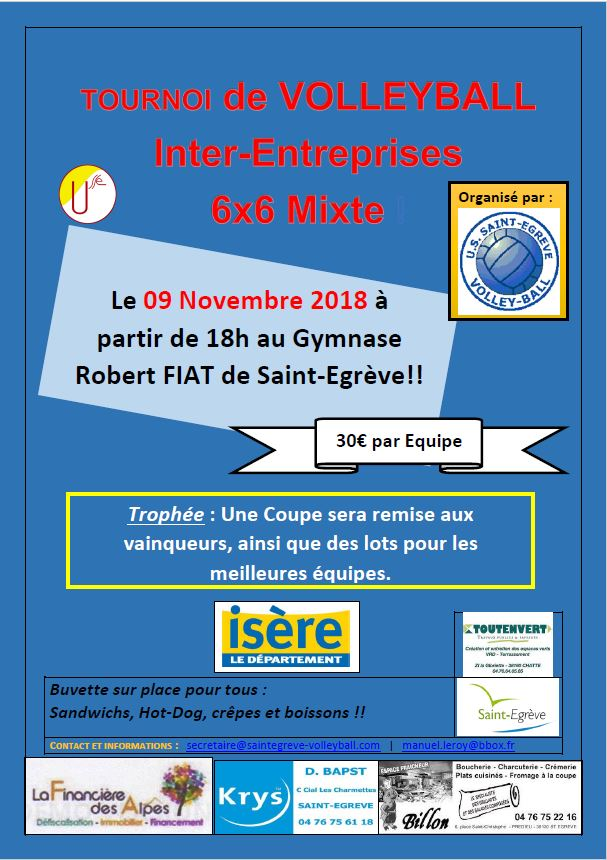 Tournois Inter-Entreprise USSE Volleyball en approche !!